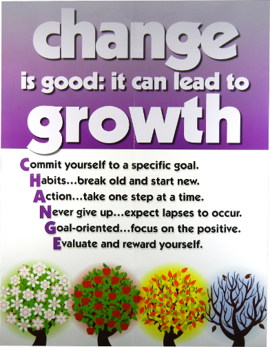 a great change And once you start looking at change as a good thing, you'll be amazed at some of the benefits that can follow here are seven reasons why embracing change can be a very good habit to adopt 1 yes, i would like to receive email updates from attitude is altitude.